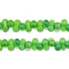Bow Beads (Farfalle) 3.2x6.5mm Green Rainbow Transparent